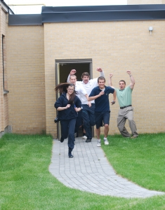 Grade 12 Courtyard Officially Opens at Bishop ACCSS