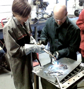 """St. Anne Student """"Welds Her Own Heart"""""""