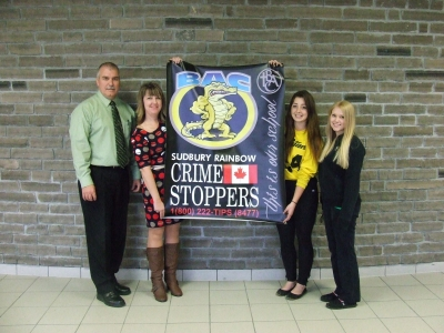 Bishop Students Partnering with Crimestoppers
