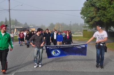 Memorial Walk Held at Bishop Alexander Catholic Secondary School