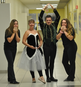 """Staff """"En Pointe"""" for BACCSS's Rooney and Dechaine Memorial Walk"""