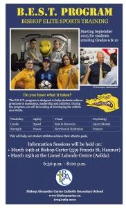 Bishop Elite Sports Training Information Sessions