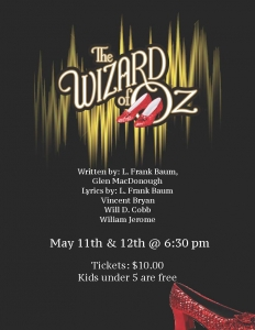 Bishop Carter CSS presents The Wizard of Oz on May 11 & 12